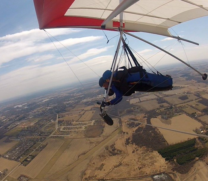 Hang Gliding over Whitewater
